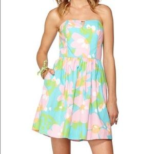 Lily Pulitzer Richelle Strapless Tie-Back Dress